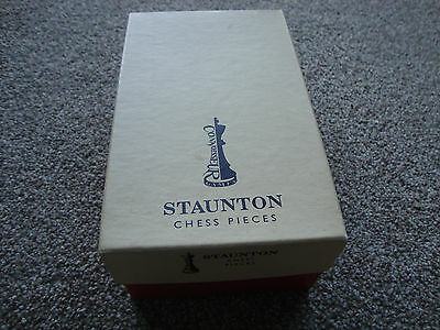 "Full Set Staunton Chess Pieces 4"" Stained Boxwood Baized And Varnished"