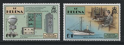 St Helena: 1996 Centenary of Radio set of 2 stamps SG714-715 MNH - AG079