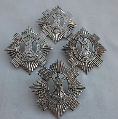 Royal Scots. 4th-6th-7th-8th Volunteer Battalion Glengarry Badges.