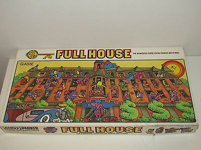 Vintage Full House Board Game 1979 Parker Brothers Bilingual Instructions