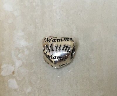 Pandora Sterling Silver Mother's Heart Charm 791112