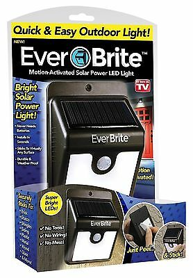 New Ever Brite Led Outdoor Light-AS ON TV Everbrite Solar Powered & Wireless