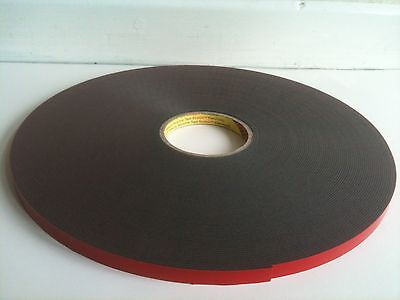 3m Automotive Double Sided Acrylic Plus Tape. {W-6mm / L-30mtr / D-1.5mm}