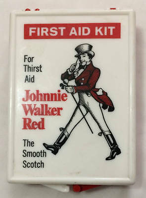 First Aid Kit Advertising Johnnie Walker Red Scotch