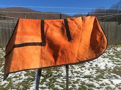 Vintage Orange Horse Blanket / Cover, Insulated , Used , Farm , Country
