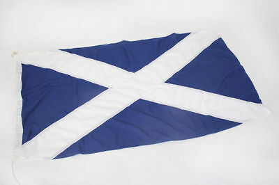 Scotland flag SEWN, FREE BAG, direct from manufacturer, buy social