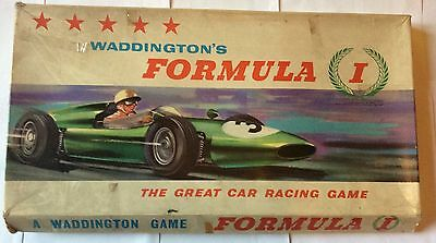 Vintage Boxed Waddingtons Formula 1 Car Racing Board Game
