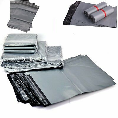"Strong Grey Mailing Bags 17""x 24"" Poly Postal Postage Self Seal Packaging Sacks"