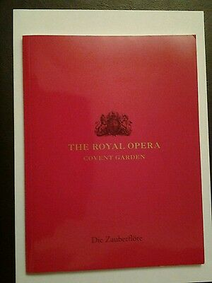 The Royal Opera, Covent Garden Die Zauberflotte Programme 2003