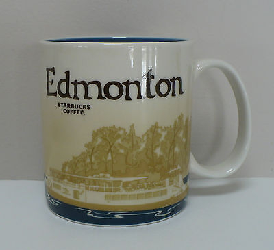 Starbucks Edmonton City Coffee Mug 2012 Icon Collectors With Flaw in Graphics