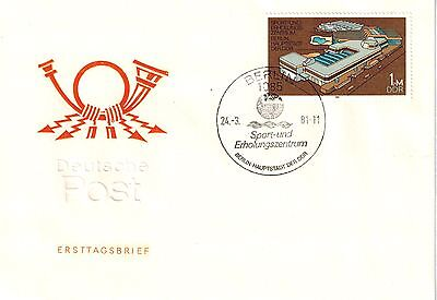 DDR FDC Mi.Nr. 2600 Blockmarke aus Block 64/First Day Cover East Germany/ Lot 54