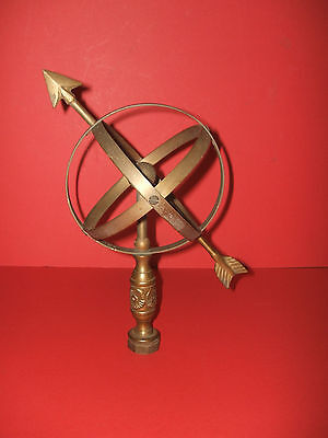 An Armillary Sundial sphere poss. vintage.  Nominally 5 3/4in. dia.  Brass.