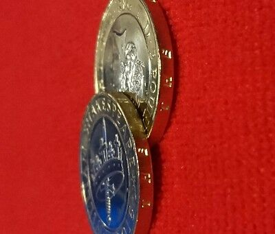 william shakespeare 2 pound coin. x2.the hollow crown history coin.defect. Rare?