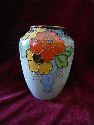 Royal  Doulton - Winnie Bowstead Arts & Crafts  Vase - Tube Lined