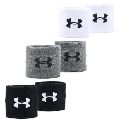 "Under Armour 3"" Performance Sports Wristbands Wrist Band (Pair)"