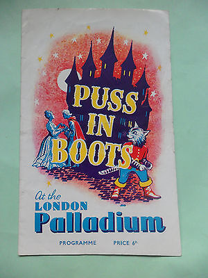 Puss In Boots 1949 Pantomime Programme From London Palladium
