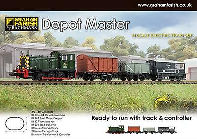 Graham Farish 370-110 Depot Master Set Complete + EXCELLENT BOX IN TISSUE PAPER