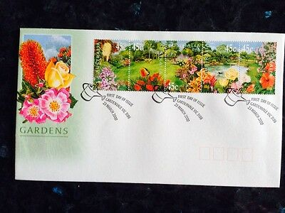 2000 Australian Gardens - Strip Of 5 First Day Cover FDC