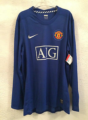Manchester player issue l/s away shirt-large - new with tags -inner washing tags