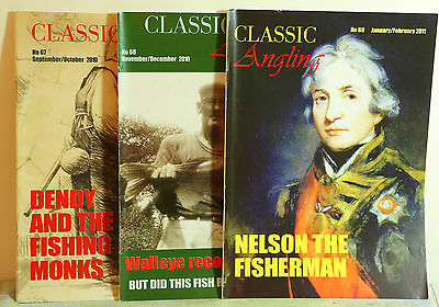 3 copies of CLASSIC ANGLING MAGAZINE - Nos. 67, 68 & 69