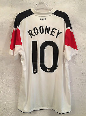 Manchester player issue s/s away shirt - Large - Official 10 Rooney - New