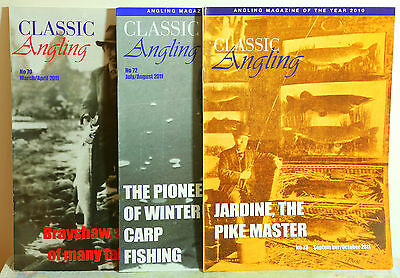 3 copies of CLASSIC ANGLING MAGAZINE - Nos. 70, 72 & 73