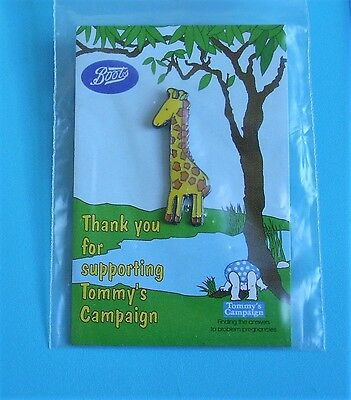 giraffe stud pin badge Tommy's campaign charity