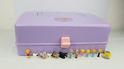 Vintage polly pocket jewel case playset 13 Figures excellent condition 1989