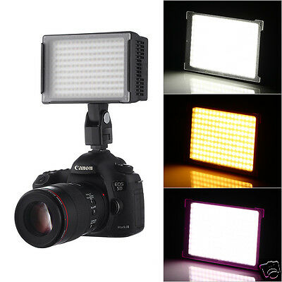 Dimmable LED Video Lighting Lamp For Canon Sony Panasonic Camera Camcorder