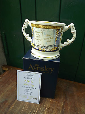 2013 Aynsley China Prince George Birth Loving Cup with box & Certificate