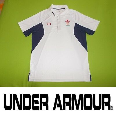 Shirt WALES (XL) UNDER ARMOUR PERFECT !!! Rugby Only ONE !!! Polo shirt