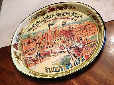 vintage ANHEUSER BUSCH BUD BUDWEISER BEER TRAY