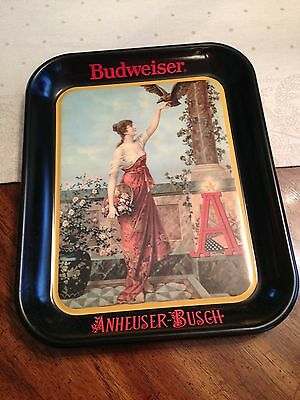 1987 Budweiser Anheuser-Busch Beer Tray lady with bird…….
