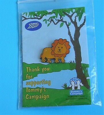 lion stud pin badge Tommy's campaign charity