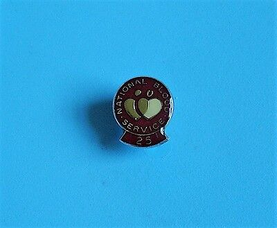 National Blood service stud pin badge 25 years charity