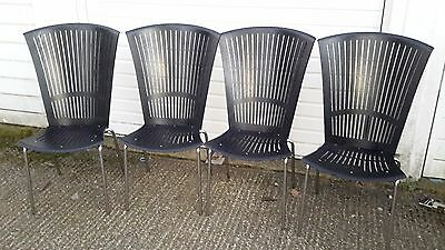 Four Danish high back dining chairs