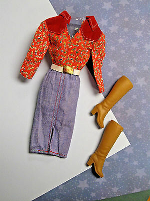 #1938 Western Style Dress, Boots 1980 Superstar Barbie Fashion Favorites Clothes