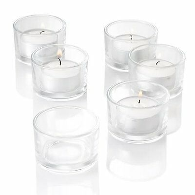 72 x Clear Glass Tea Light  Candle Holder Wedding Party Decor tealight