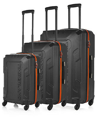 Timberland 3pc Boscawen graphite suitcase set