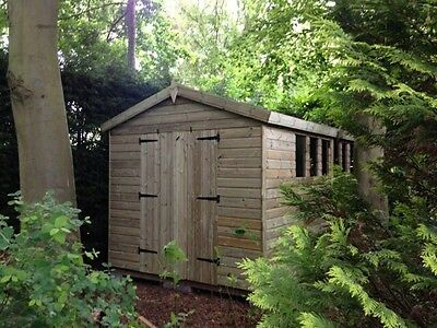 14x10 19mm Tanalised pressure treated T&G apex shed workshop extra height