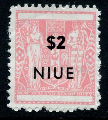 Niue: 1967 Postal Fiscal stamp with $2 surcharge - Perf 11 SG138a MM Y004