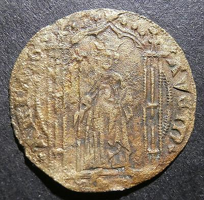 European jeton / token / gaming counter - crowned figure - possibly French 25mm