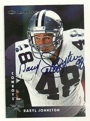 SIGNED Daryl Johnston-Moose #48 Dallas Cowboys Football Trading Card AUTOGRAPHED