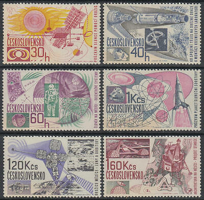 XG-E060 SPACE - Czechoslovakia, 1967 Flights, Exploration MNH Set