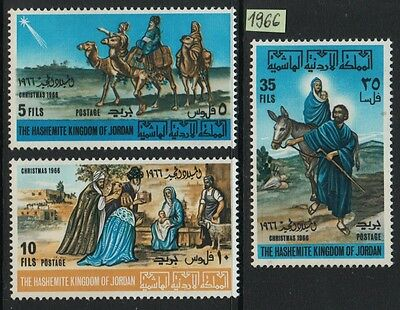 XG-F657 JORDAN - Religion, 1966 Christmas, Nativity, Three Wise Men MNH Set