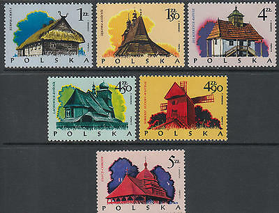 XG-G319 POLAND - Buildings, 1973 Traditional Houses, Landscapes MNH Set
