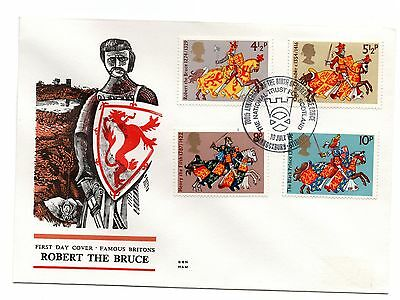 GB 1974 Britons on the Benham Woodfree cover with a Bannockburn cancel