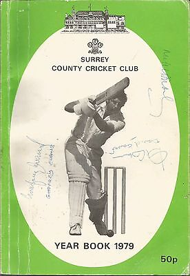 Surrey Ccc Year Book 1979 Signed By 7 International Players Plus Roger Knight