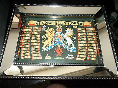 The Royal Welch Fusiliers Framed 7'x5' Battle Honours Print