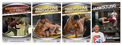 Buy Four 4 Wrestling Instructional DVDs - Free Shipping!!